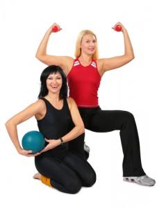 vrouwen vol zelfvertrouwen, sportief afvallen